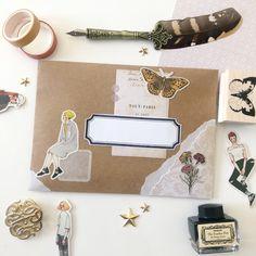 Mail Art Envelopes, Snail Mail Pen Pals, Pen Pal Letters, Mail Ideas, Envelope Art, Scrapbook Designs, Scrapbook Journal, Dear Diary, Drown