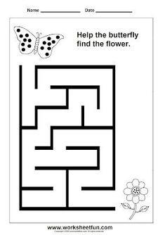 Preschool and Kindergarten Mazes