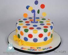 BC4283-rainbow-polka-dot-cake-toronto-oakville