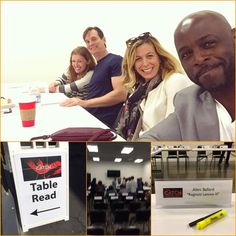 Table read for The Catch! Mireille Enos, Peter Krause, Alimi Ballard
