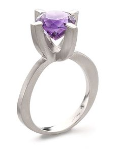 here, with large amethyst