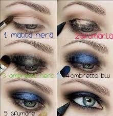 Blue Smoky Eye Makeup Tutorial - Makeup for Best Skins! Blue Eye Makeup, Eyeshadow Makeup, Hair Makeup, Beauty Makeup, Black Makeup, Blue Eyeshadow, Eyeshadow Ideas, Makeup Inspo, Beauty Nails