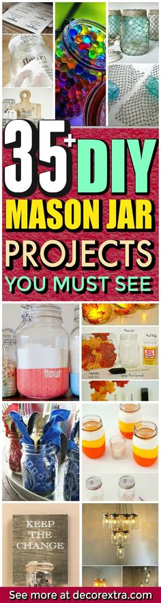 Mason Jar Crafts, Gifts and Decor - Mason Jar Ideas for Summer and DIY Projects With Jars That Are Perfect For Summer - DIY Mason Jar Ideas