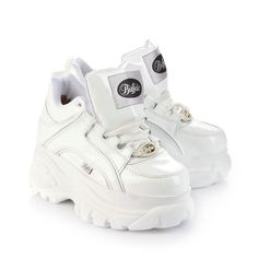 New Buffalo Classic Boots 1339-14 WHITE Platform Shoes Trainers Sizes UK 3-8: Amazon.co.uk: Shoes & Bags
