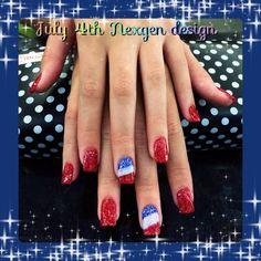 Nexgen Nail art July 4th