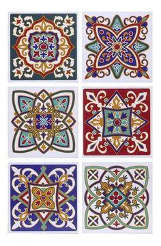 Mandala Art, Mandala Drawing, Mandala Design, Ceramic Tile Art, Mosaic Art, Tile Patterns, Pattern Art, Mundo Hippie, Motif Arabesque