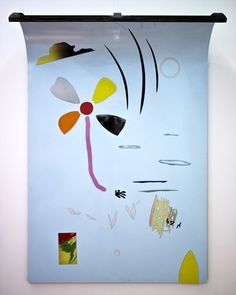 Bob Eikelboom, Untitled (Magnetwork Series No.5) 2014, Enamel paint and magnets on steel, 110x170cm