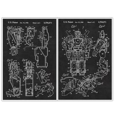 """Transformers, Patent Prints, Blueprint Poster - set of 2 Games and Toys posters. Decorate your home or office and get inspired with Patent Poster Prints! These are awesome posters of inventions that have changed our lives throughout history. These poster prints are easy to frame and hang in your own home or perfect to give as a gift! Paper Size: Approximately 18"""" x 24"""" or 24"""" x 36"""" Framing your Poster: You may need to trim the edges if you are framing the poster. Professionally printed on..."""