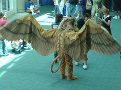 Our 7 year old daughter said she wanted to be a gryphon for Halloween. awesome. (head, wings & talons of an eagle, body of a lion). but... she's changed her mind already. sigh