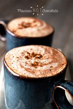 Spicy Hot Chocolate, using molinillo a traditional Mexican hot cocoa, to die for!