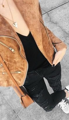 Suede with Love Tan Suede Moto Jacket