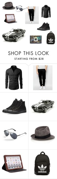 """""""Darrell Black"""" by frostbiten ❤ liked on Polyvore featuring мода, Farah, Converse, GUESS, rag & bone, Latico, adidas Originals, Kenzo и silversword"""