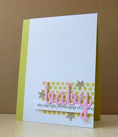 Baby Alphabet Card by Cristina Kowalczyk for Papertrey Ink (May 2013)