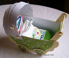 ein Kinderwagen aus Papier. I Card, Crafts, Paper, Pram Sets, Manualidades, Handmade Crafts, Craft, Arts And Crafts, Artesanato