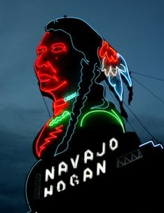 Navajo Hogen - Neon Sign for Restaurant in Colorado
