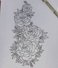 #roses #flowers #flowertattoo #floral #floraltattoo #tattoo #tattoos #tattooidea #traditional #traditionaltattoo #neotraditional #neotraditionaltattoo #tattoodesign #drawing #sketch #sketchoftheday #art #artwork #createsomething #loveyolife