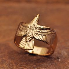 14kt Eagle Ring
