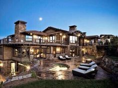 Homes for sale at Deer Valley Ski Resort. Local Park City Realtors specializing in Deer Valley real estate. Ski-in/out luxury homes. Dream Mansion, Stone Mansion, At Home Movie Theater, Park City Utah, Home Movies, House Goals, My Dream Home, Dream Homes, Dream Big