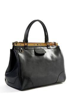Black Leather Dr. Style Handbag.