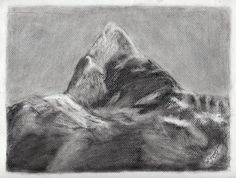Mt. Fishtail - Sketching by Suman Shakya in My Sketches at touchtalent