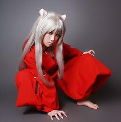 Classic Animation INUYASHA Inu-Yasha Red Cosplay Costume, via Flickr.
