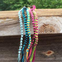 Set of 5 Double Knot Friendship Bracelets by TheKnittinPearl1