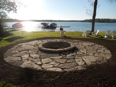 like the flagstone/firepit