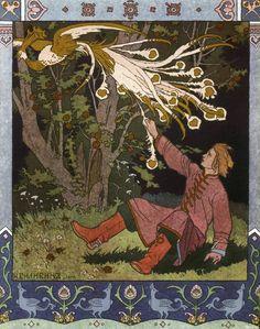 Tale of Ivan Tsarevich, The Firebird, and The Grey Wolf (1899), Ivan Bilibin