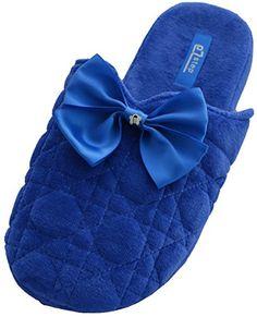 Medium // 7-8 B US, Aquarius Dearfoams Women/'s Fluffy Clog Slipper M