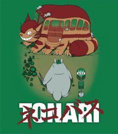 Parodie affiche Akira - Totoro