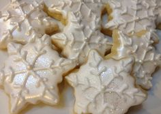 3 dozen Mini Snowflake Cookies