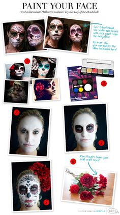 Paint Your Face - Need a last-minute Halloween costume? Try this Day of the Dead look!
