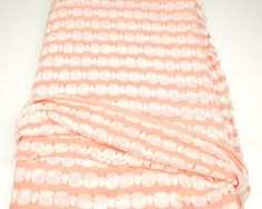Peach and Off White Stripe Open Weave Sweater by felinusfabrics