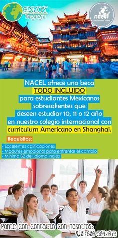 ¿Te imagines estudiar un año académico en #Shanghai? Nacel ¡¡tiene una BECA COMPLETA para ti!! Solicita más información sin compromiso. #EstudiaenShanghai #BecaenShanghai