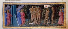 Priamo della Quercia, Dante Alighieri Dante and Virgil from The Divine Comedy Italy (c. Illuminated Manuscript What you're seeing is one of the original manuscripts of The Divine Comedy,. Medieval Manuscript, Illuminated Manuscript, Dante Alighieri, Dantes Inferno, Library Catalog, British Library, Christian Art, Siena, Art History