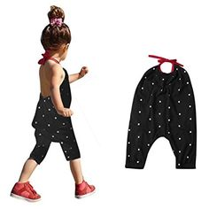 8ad1841951dcb Amazon.com : Franterd Baby Girls Straps Rompers, Kid Jumpsuits Piece Pants  Clothing : Sports & Outdoors