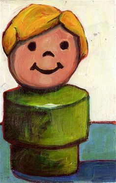 I bought one of her paintings for my little sister.  We both love them. $30.00 #fisher_price #little_people #vintage