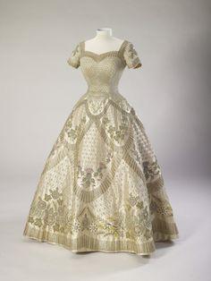 Queen Elizabeth II's coronation dress, by Norman Hartnell, 1953