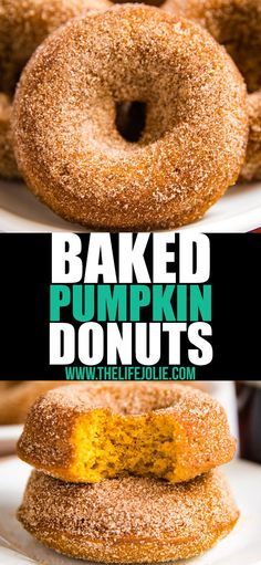 You've got to make this Baked Pumpkin Donut Recipe! They're the most light and f… - Donut Decor Pumpkin Donut Recipe Baked, Baked Donut Recipes, Baked Pumpkin, Pumpkin Recipes, Baking Recipes, Snack Recipes, Keto Recipes, Pumkin Donuts, Protein Recipes