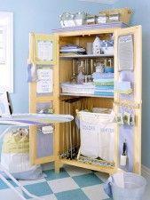Inspiração do dia -lavanderia compacta e organizada
