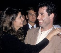 John Travolta sorride assieme a Kirstie Alley... <3