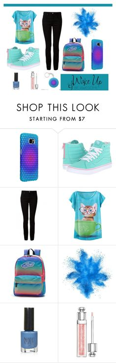 """""""Teen #1"""" by cocodes ❤ liked on Polyvore featuring Samsung, Vans, T By Alexander Wang, Topshop, Christian Dior, WALL, Blue, teen, colorful and teenager"""