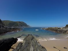 """A quiet day at the beach """"Sand Bay"""" in Tsitsikamma Tsitsikamma National Park, River Mouth, Holiday Destinations, South Africa, National Parks, Country, World, Beach, Water"""