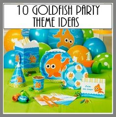 10 Goldfish Party Theme Ideas- so fun for a one year old b-day party