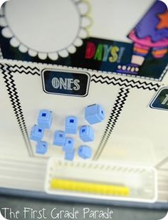 Put magnets onthe back of unifix cubes for place value.  Use cookie sheet