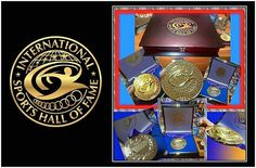 Amazing new Medals for INTERNATIONAL SPORTS HALL OF FAME inductees. Coated in heavy 18 Karate gold and almost 3 pounds in new solid rosewood case with solid brass fixtures. Always looking to up the bar to honor the legends of sports. http://ift.tt/2coEnW7