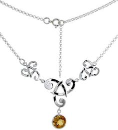 This Necklace is crafted from Solid Sterling Silver and set with Precious Gem. The quality of this piece of jewelry is outstanding. It will definitely make a remarkable and reasonably-priced gift for yourself or a loved one on any occasion. Matching Earrings are available, Part Number NSE002C.