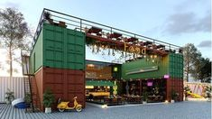 6 nos over dimension container cafe at rajkot Container Bar, Container Home Designs, Shipping Container Restaurant, Container Coffee Shop, Shipping Container Design, Container Office, Shipping Container Buildings, Container Homes, Coffee Shop Design