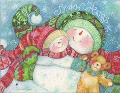 Snow Hugs...Snowman...Merry Christmas | Flickr - Photo Sharing!