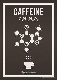 Caffeine Poster by Compound Interest Science Chemistry, Organic Chemistry, Science Art, Teaching Chemistry, Chemistry Classroom, Chemistry Notes, Chemistry Lessons, Coffee Cafe, Coffee Shop